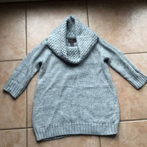 3/$30 Fenn Wright Manson Gray Wool Cowl Sweater